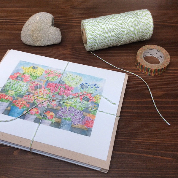 Set of floral note cards by Kathleen Maunder of Trowel and Paintbrush