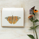 Butterfly note cards featuring a watercolor painting by Kathleen Maunder (Trowel and Paintbrush)