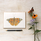 Butterfly note card featuring a watercolour by Kathleen Maunder