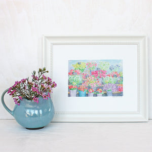 Paris Flower Market Print
