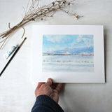 Peaceful Winter Landscape - 8 x 10 print - Watercolour by Kathleen Maunder