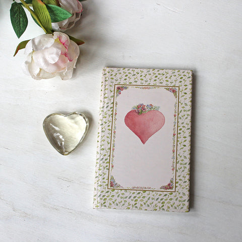 Pink Heart Hardcover Journal