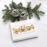 Poinsettias Holiday Card by watercolor artist Kathleen Maunder, trowelandpaintbrush