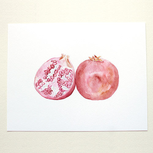 Pomegranate Watercolor Print