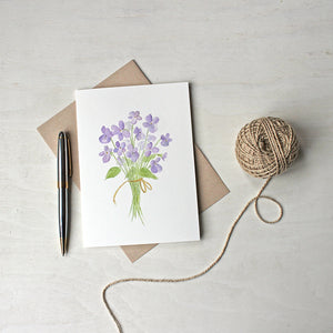 Posy of Violets - Botanical Note Cards