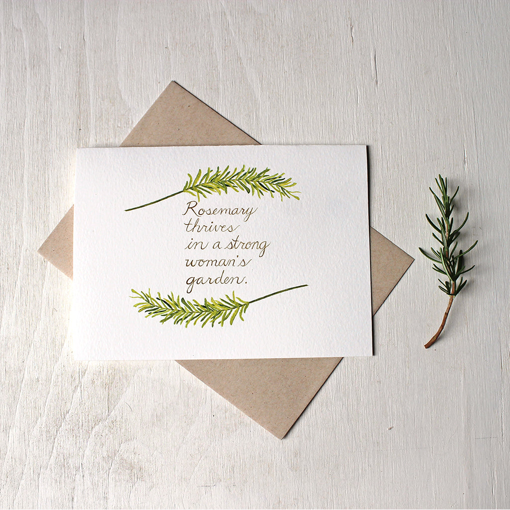 Rosemary Quote Note Card Set