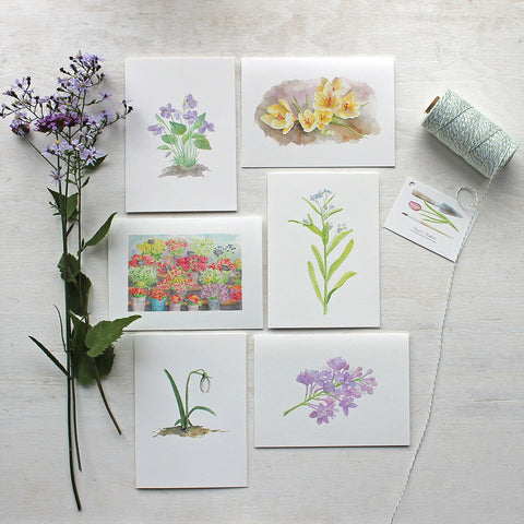 Set of 6 Floral Note Cards
