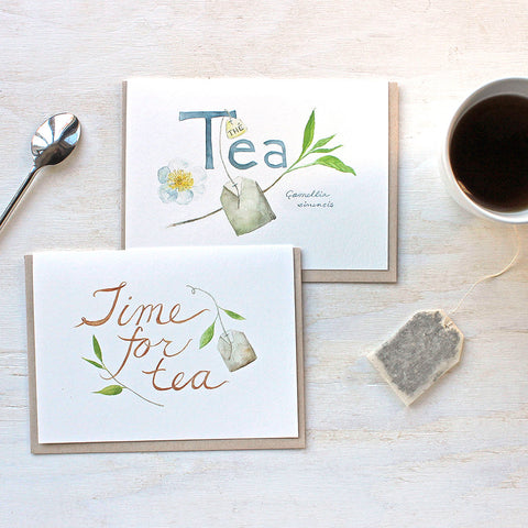 Set of 6 Tea Lover Note Cards