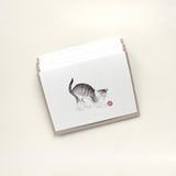 Set of tabby cat note cards by watercolor artist Kathleen Maunder