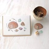 Shells and Sea Glass Watercolor Cards by artist Kathleen Maunder