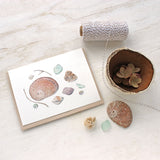 Shells and Sea Glass Note Cards by watercolor artist Kathleen Maunder, trowelandpaintbrush.com