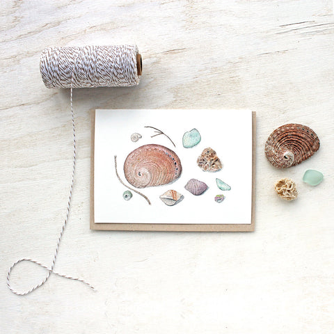 Shells and Sea Glass Note Cards - Set of 5