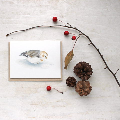 Snow Bunting - Bird Note Cards