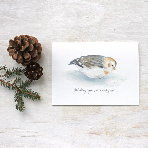 Snow Bunting Holiday Cards
