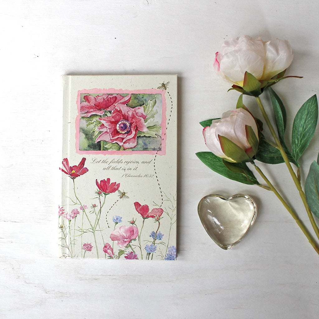 Flower And Bee Journal With Bible Quotes Trowel Paintbrush