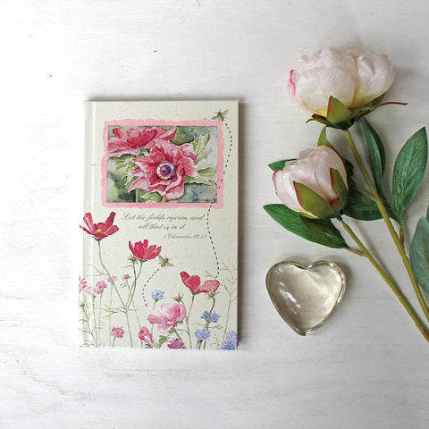 Flower and Bee Journal with Bible Quotes