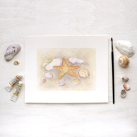 Seashell and Starfish Print