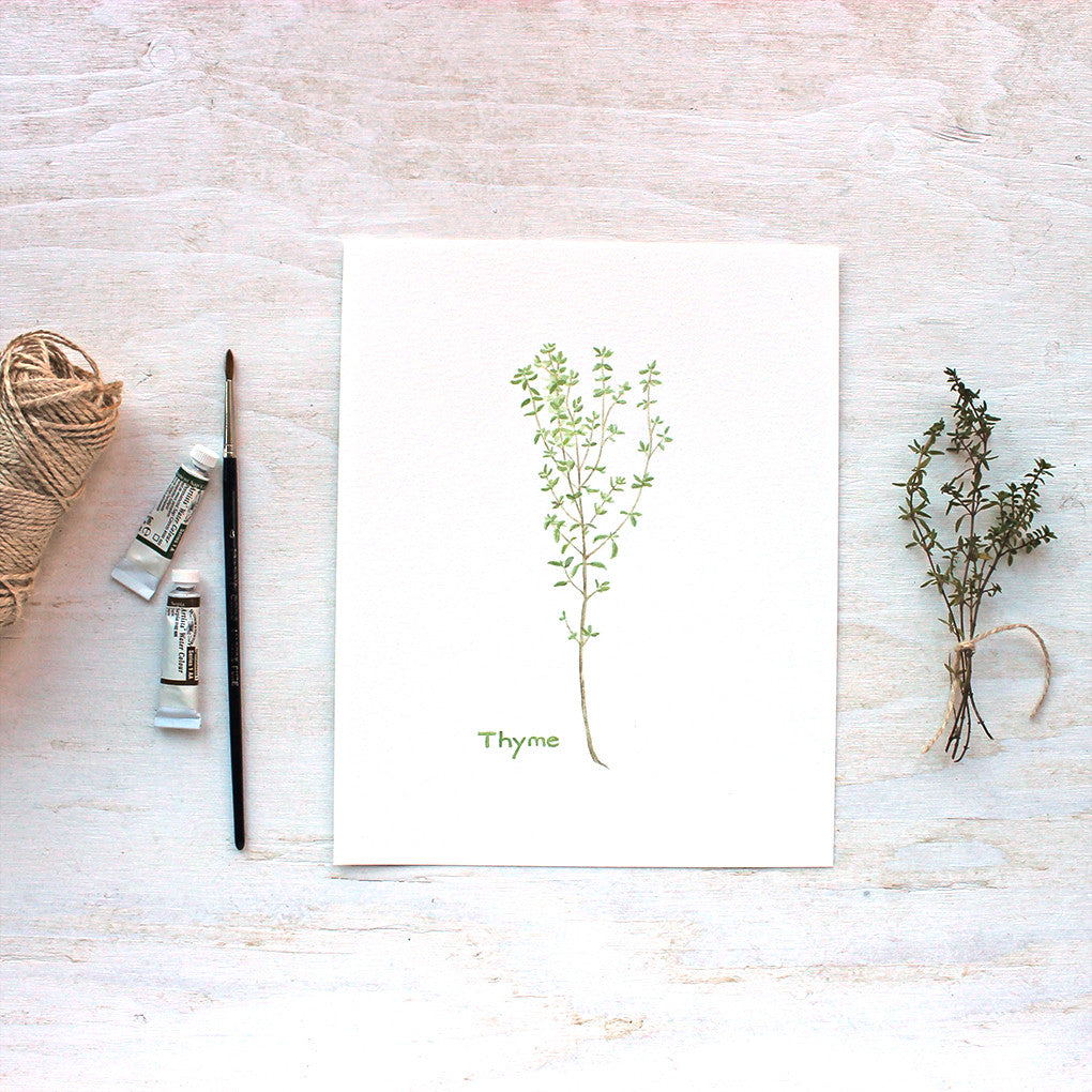 Herb Watercolor Print - Thyme