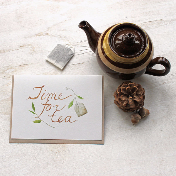 Time for tea note cards by Kathleen Maunder of Trowel and Paintbrush