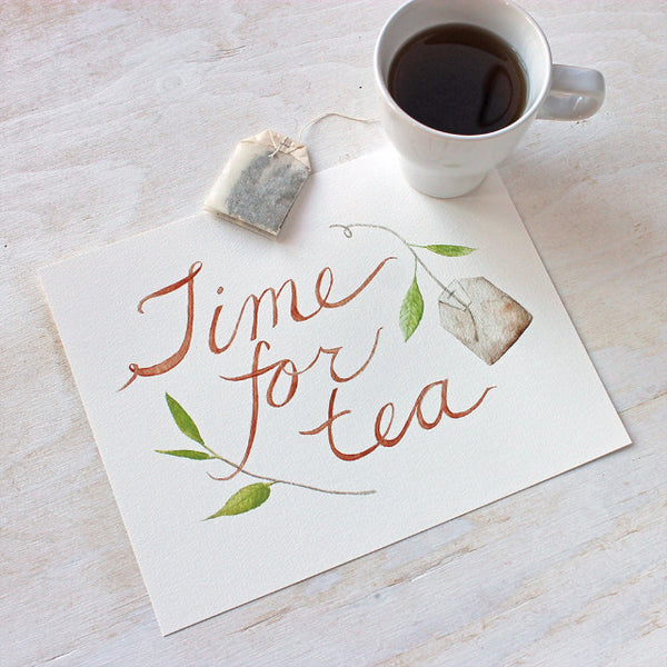 Time for Tea Watercolor Print