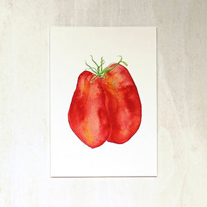 Tomatoes in Love Watercolor Print