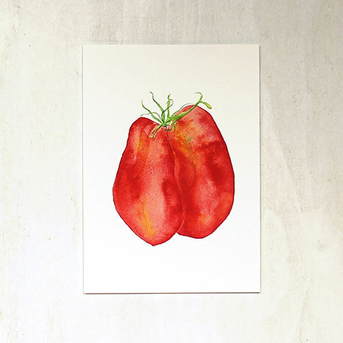 Tomatoes Watercolor Print