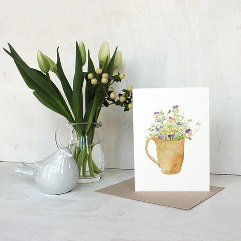 Violas and Verbena Note Cards