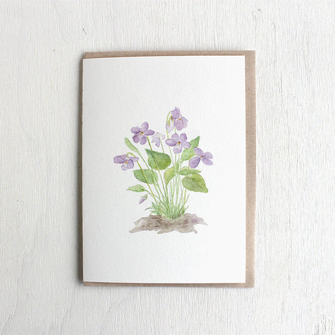 Violets - Set of 5 Note Cards