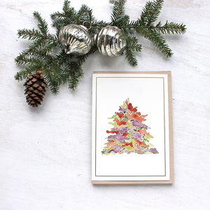 Watercolor Tree Holiday Cards