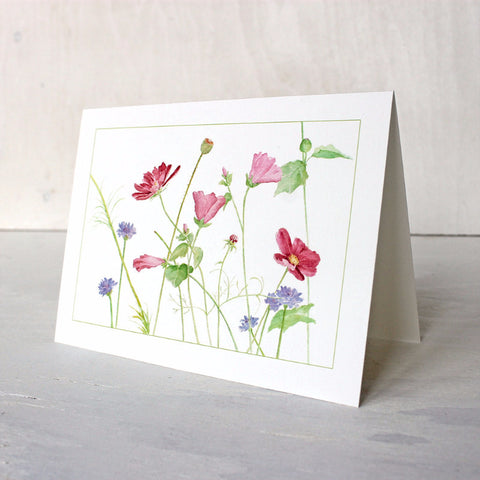 Wildflower watercolor note card by Kathleen Maunder