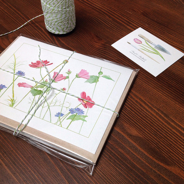 Packaged wildflower note cards by Kathleen Maunder