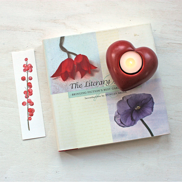 Winterberry bookmark - printed in studio by Trowel and Paintbrush