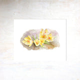 Yellow crocuses by watercolor artist Kathleen Maunder, trowelandpaintbrush.com