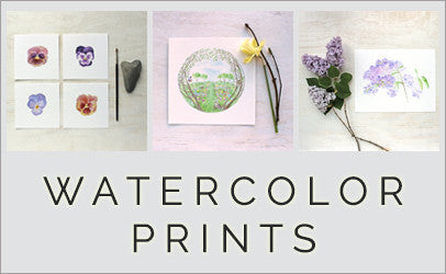 Watercolor Prints by trowelandpaintbrush