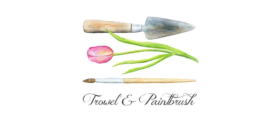 Trowel and Paintbrush