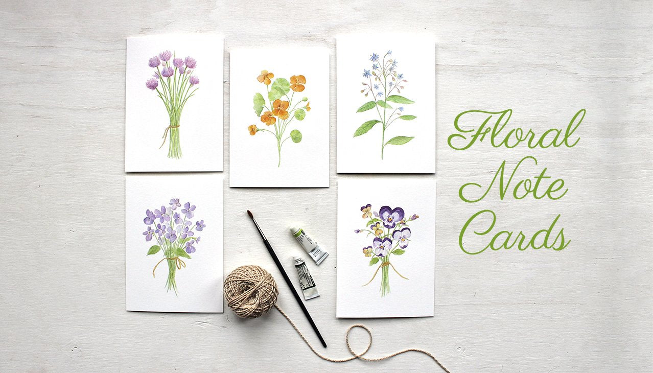 Botanical Note Card Assortment by Kathleen Maunder