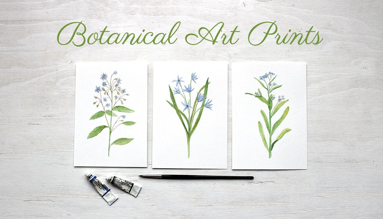 Watercolor Art Prints by Trowel and Paintbrush
