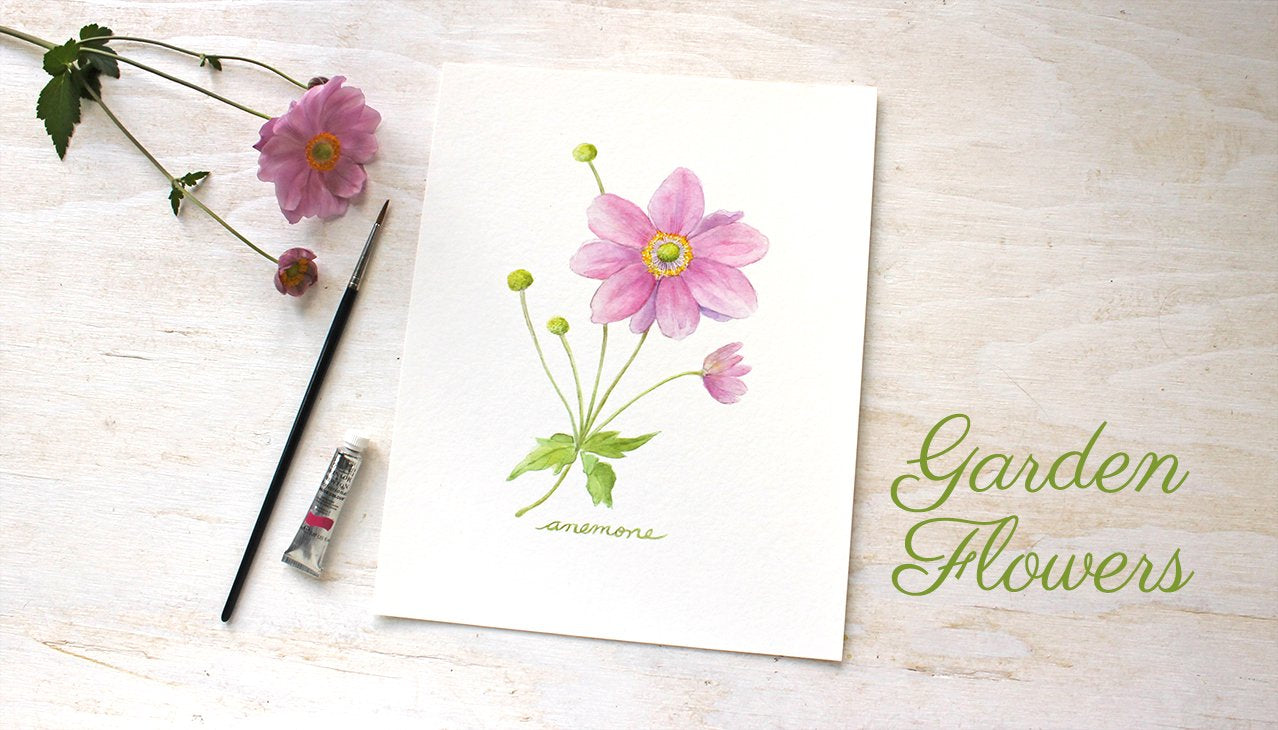 Japanese Anemone Print by Trowel and Paintbrush