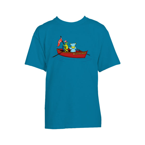 Fare Thee Well Rowboat Youth Turquoise Tee