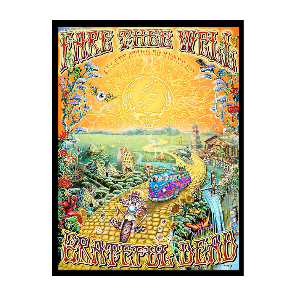 The Golden Road Holographic Poster