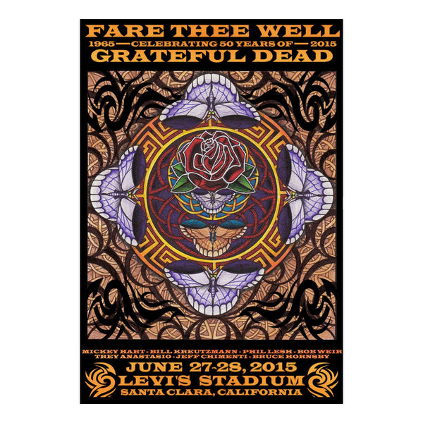 Fare Thee Well Earth Tones Mandala Lenticular Lithograph