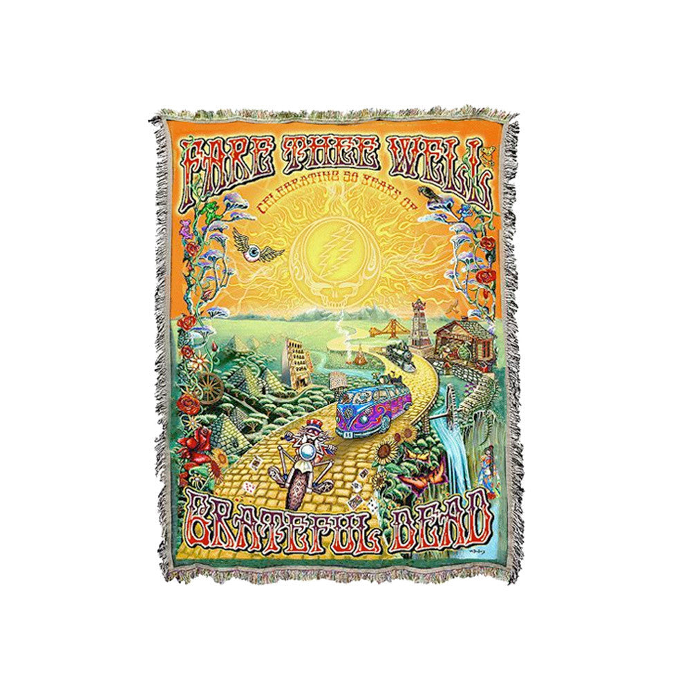 The Golden Road Woven Blanket