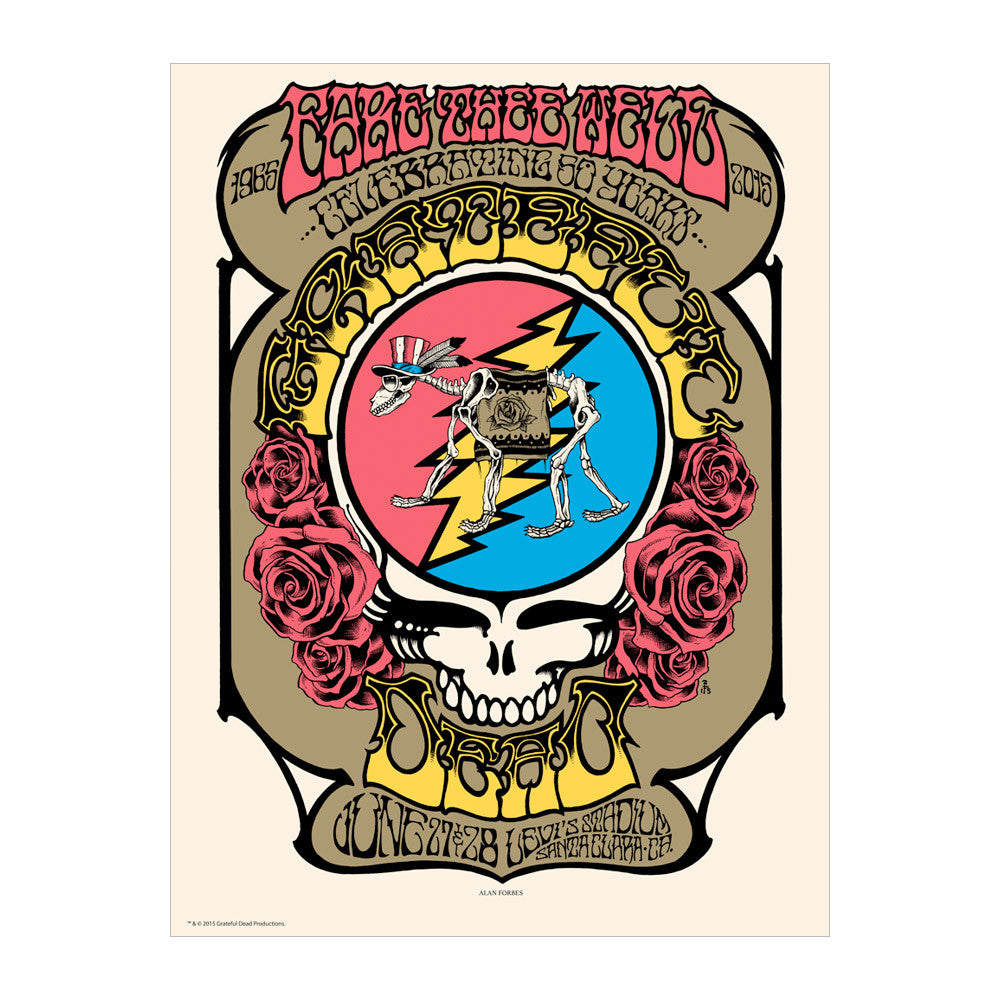 Forbes Steal Your Face Santa Clara Poster