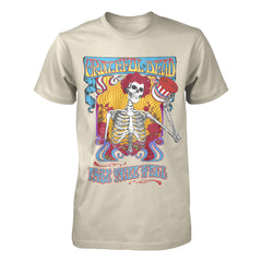 Fare Thee Well Skeleton On Natural Tee