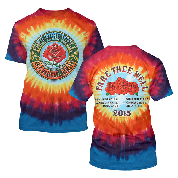 Fare Thee Well Logo Rose Tie Dye