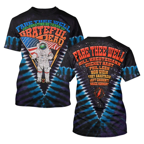 Fare Thee Well Standing On The Moon Tie Dye Tee