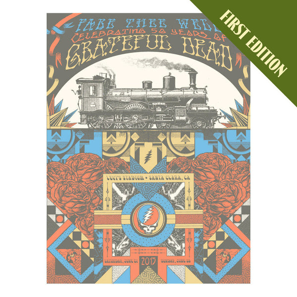 Fare Thee Well Train Screen Print