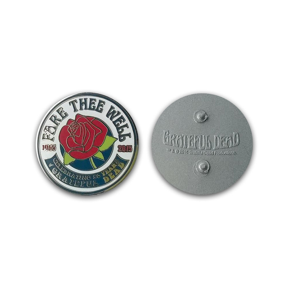 Fare Thee Well Rose Pin