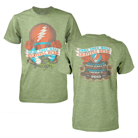 Fare Thee Well Hot Air Balloon On Heather Green Tee