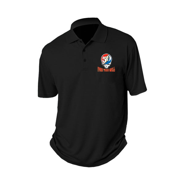 Steal Your Face 50th Black Polo Shirt